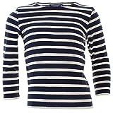 Saint James Kinder Shirt Pullover Meridien Modern E in Blau-Beige Größe 152 (12 Jahre)