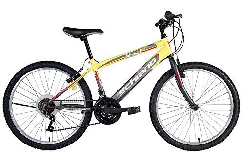 F.LLI Schiano Bici Mountain Bike Integral Uomo Power Antracite/Giallo 26''
