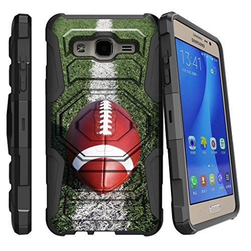 Miniturtle Schutzhülle für Galaxy On5, Samsung O5 Clip, G550 Hülle, [Armor Reloaded] Defender Guard mit Ständer & Bildschirmschutzfolie, Football On Line