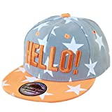 THENICE Kind Hip-Hop Cap Baseball Kappe Hut (Star grau)