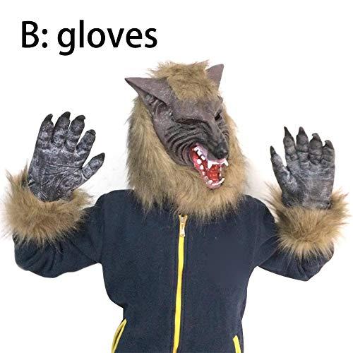Realistischer Kostüm Werwolf - Mississ Halloween realistische Werwolf Tiermasken Cosplay Kostüm Party Requisiten Ordinary
