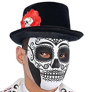 Amscan Internacional Adultos Día de los Muertos Tophat Hombres