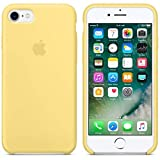 Desconocido Funda para iPhone 7/8, Silicona Amarillo Pastel Logo Apple, Carcasa Silicona Amarilla iPhone (iPhone 7/8)