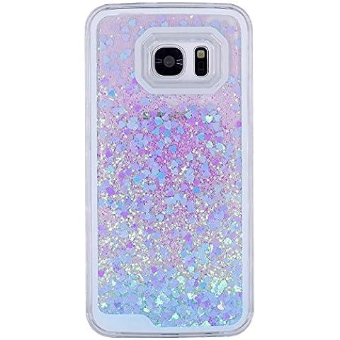 MerryBIY Liquido Custodia per Samsung Galaxy S7, Brillare Acqua Scorre