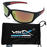 Best Wrap Around Men's Polarized Sunglasses - VertX Men's Polarised Sunglasses Sport Cycling Outdoor Soft Review