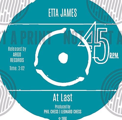 Etta James, AT LAST, Vinyl Record Print | personalisierbar Lied | Vinyl Record Lied Words Print | 23x 23cm Box weiß Rahmen