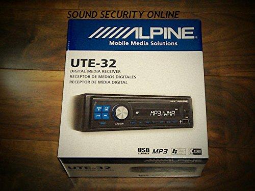 Alpine UTE-32 USB/MP3/AUX/WMA Car Media Player (Single Din)