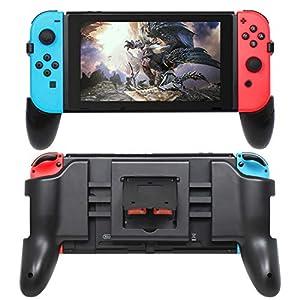 FASTSNAIL Griffe für Nintendo Switch, Faltbare Handgriffe für Nintendo Switch Controller Joy Con, Griff-Kit mit 2 Spielplätzen