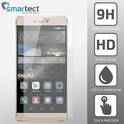 SmarTect® Huawei P8 Protector de pantalla de alta calidad – Vidrio templado Gorilla-Glass de resistencia