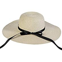 629425b22d588 Pamela - para Mujer Mujer Sol Verano Algodón Sombrero De ala Ancha Tapa  Abatible UPF 50