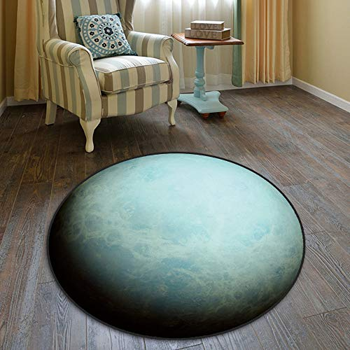 alfombras infantiles pour jeux de sociétéMoonEarth Round Tapis Sala de estar Sala de estudio Table de café Dormitorio de cesta Habitación junto à cama