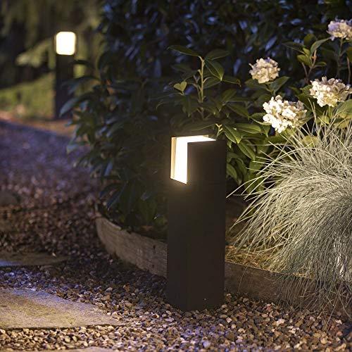 Philips Hue White Fuzo Sockelleuchte, schwarz | LED Außenleuchten für den Balkon, Terrasse & Garten | Schutzart IP44, spritzwasser-geschützt | Dimmbar per App, Dimmschalter