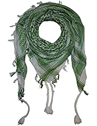 Superfreak® Palituch Grundfarbe weiß°PLO Schal°100x100 cm°Pali Palästinenser Arafat Tuch°100% Baumwolle – alle Farben!!!