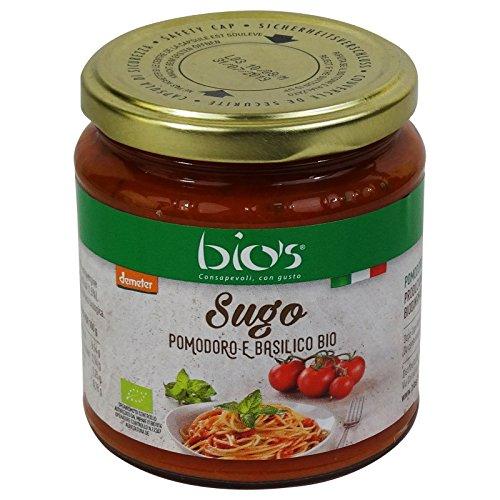 BIO'S - Sauce Tomate et Basilic Biologique Italien - DEMETER certifié biodynamique - 300gr