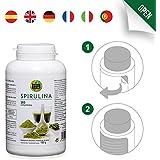 Comprimidos de Spirulina, Espirulina, Puro extracto, proteínas, 100% puro, 360 comprimidos, alta dosis por cápsula, polvo en cápsulas, beneficios, potencia máxima, recomendada para deportistas