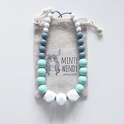 Cadeau de naissance - Collier d'allaitement, de Portage et de Dentition - Wendy