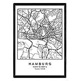 Nacnic Drucken Stadtplan Hamburg skandinavischen Stil in