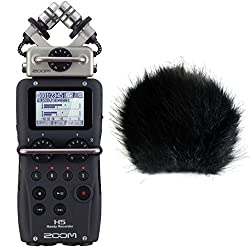 Zoom H5 Handy Recorder + keepdrum Fell-Windschutz WSBK