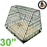 Ellie-Bo Deluxe Sloping Puppy Cage Folding Dog Crate... - Compareprices24.co.uk