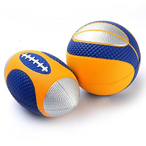 Preisvergleich Produktbild Chastep PU-Schaumstoffbälle softball miniball mini Rugby volley foam (blau)