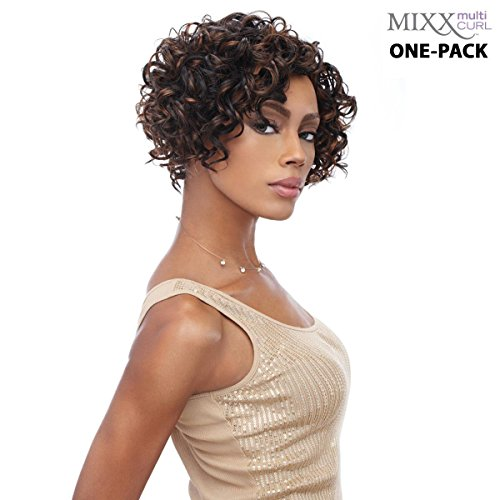 [3 mèches Pack complet + Closure] sensationnel HH Bubbly de Multi Curl (Mixx) – Human Hair Blend Weave (One Pack Complete)