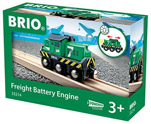 Brio Locomotora de mercancías a pilas con luz (33214)
