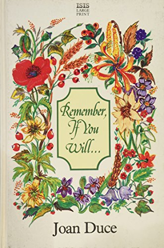 Remember, If You Will.... (Transaction Large Print Books)