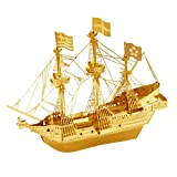 Metal Earth Fascinations GOLD GOLDEN HIND 3d Metall puzzle, Konstruktionsspielzeug, Lasergeschnittenes Modell