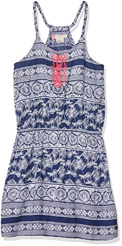 roxy-girls-lovelymessenger-dress-blue-depths-olmeque-stripe-size-12-large
