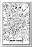 Panorama® Poster Karte von Frankfurt 70 x 100 cm |
