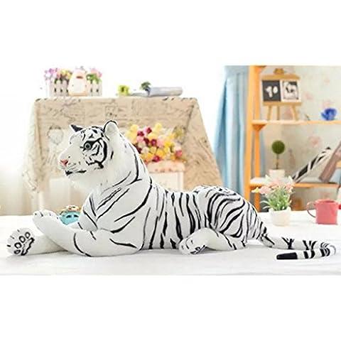 Haodasi Peluche grande artificial gigante Tigre suave suave del juguete de la felpa de 45 cm blanco