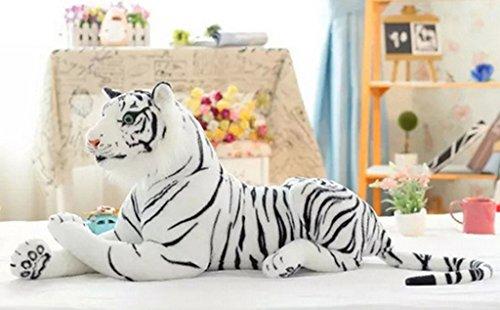 Meijunter Grande artificiale Giant Tiger morbida tenero peluche peluche Massive 45 centimetri bianco