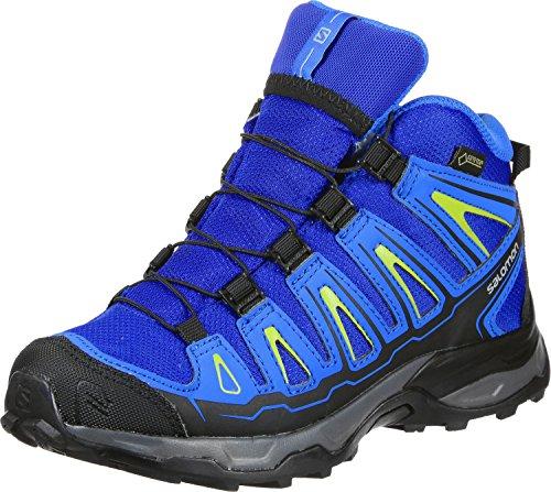 Salomon X-Ultra Mid GTX J, Stivali da Escursionismo Unisex-Bambini, Blu Yonder/Bright Blue/Granny Gree 000, 36 EU