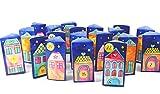 Adventskalender Häuser Geschenkboxen Dorf Häuschen zum befüllen basteln Last Minute Kalender zum Schell Aufbau