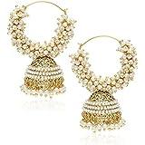 YouBella Golden Plated Hoop Earrings for Women (Golden)(YBEAR_7890_FOF)