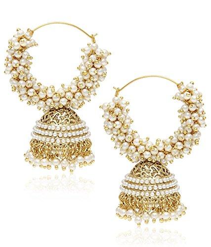 YouBella Designer Traditional Jewellery Pearl Jhumki / Jhumka Earrings for Girls and Women