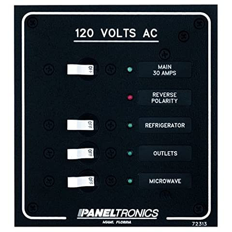 PANELTRONICS STANDARD AC 3 POSITION BREAKER PANEL & MAIN