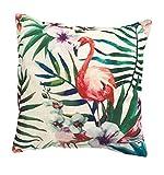 Kissenhülle 40x40 cm 'Flamingo' Kissenbezug Hülle (Türkis, Rosa, Pink)