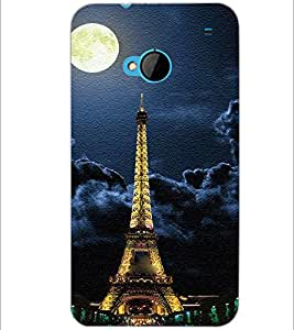 PrintDhaba Tower D-3849 Back Case Cover for HTC ONE M7 (Multi-Coloured)