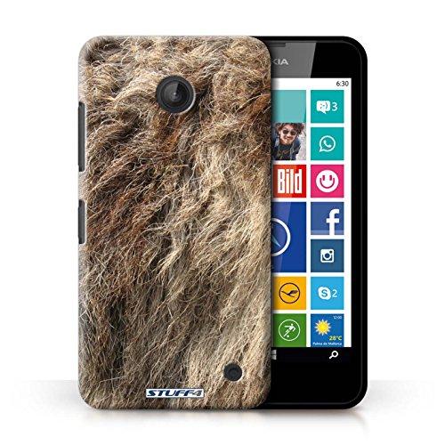 Kobalt® Imprimé Etui / Coque pour Nokia Lumia 635 / Zèbre conception / Série Motif Fourrure Animale Loup