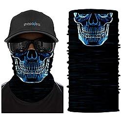 ShopINess Cache-Cou/Foulard Multifonctions - Crâne/tête de Mort - Scanner