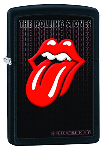 Zippo Rolling Stones Mechero, Metal, Black Matte, 3.5x1x5.5 cm