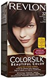REVLON ColorSilk Beautiful Hair Color DARK MAHOGANY BROWN (32) 130 ml with Ayur Lotion Free