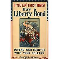 Liberty Bond-Stampa artistica in stile Vintage, laccato