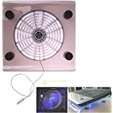 "Tradico® USB Big Cooling Fan With LED Light Cooler Pad Stand For 15"" Laptop PC Notebook"