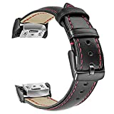 TRUMiRR Gear Fit2 Armband, Echtleder Armband Sport Uhrenarmband für Samsung Gear Fit 2 SM-R360 / Fit 2 Pro SM-R365 Smart Watch