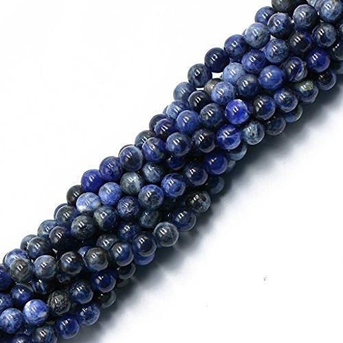 Magideal 6 millimetri blu sodalite naturale produzione di gioielli rotondo sciolto tallone filo 15 accessorio gioielleria