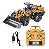 Dilwe Bulldozer RC, Giocattolo del Auto di Ingegneria Telecomando Elettrica Modello Escavatore 2.4G 1:14 per Bambini
