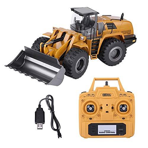 Dilwe Fernbedienung Bulldozer Kinder Geschenk, 2,4G 1:14 RC Loader Traktor Elektro BAU Modell RC Engineering Fahrzeug Spielzeug