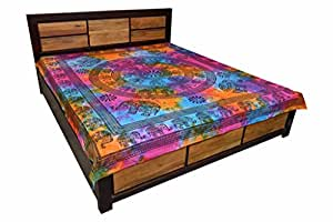 jaipur kala kendra indian housse de coussin motif l phants multicolore drap housse imprim pour. Black Bedroom Furniture Sets. Home Design Ideas